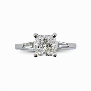 Claw Set Princess Cut Diamond Ring 1.00ct EVS2 GIA